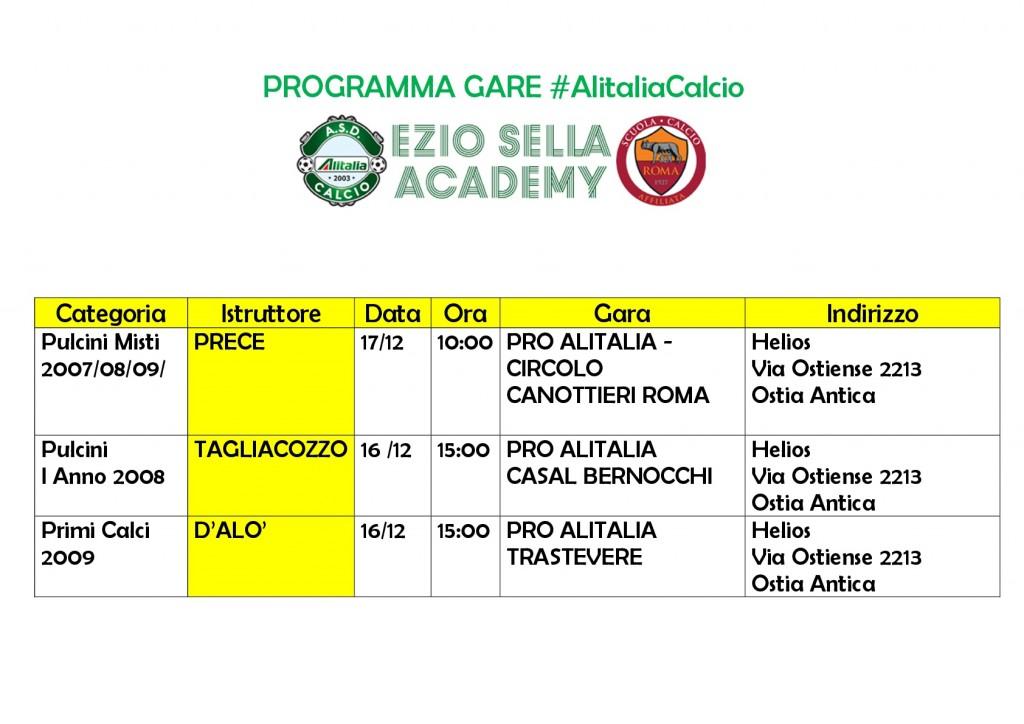 Alitalia Programma 16 17 dicembre