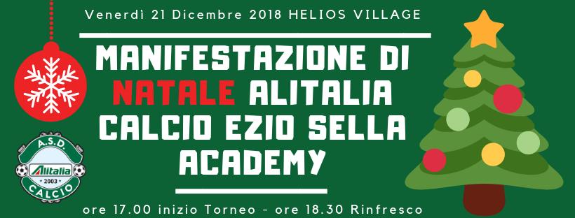 MANIFESTAZIONE DI NATALE ALITALIA CALCIO EZIO SELLA ACADEMY